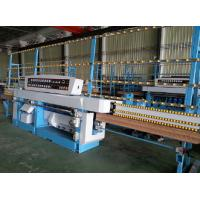 Buy cheap Miter Glass Glass Edging Machine With Air Polishing / Electrical Rail Lift System from wholesalers