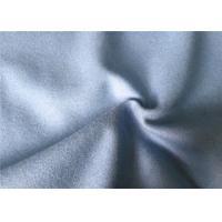 Heavy Waterproof Wool Fabric Grey , Elegant Wool Curtain Fabric