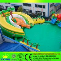 Henan Tops Dinosaur Jungle Inflatable Water Park Inflatable Adult Swimming Pool 105502968
