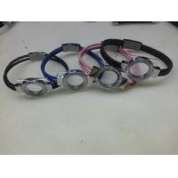 Buy cheap Tagor Jewelry New Style Leather Cord Stainless Steel Glass Lockets Bracelets,Multi Colors from wholesalers