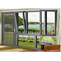 Buy cheap Outer Opening Aluminium Glass Door , Wind Proof Hanging Glass Window from wholesalers