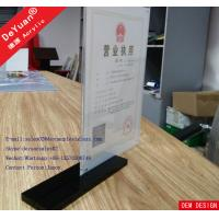 Buy cheap A4 Acrylic Display Stand Acrylic Card Holders Stands For Menu Holder Restaurant from wholesalers