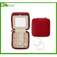 Buy cheap PU Leather Red/Navy/orange Travel Jewelry Case with holiday gift wrap from wholesalers