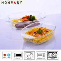 Buy cheap Eco-Friendly Clear Borosilicate Glass Baking Dish For Oven And Dishwasher from wholesalers