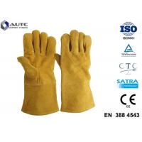 Buy cheap Leather Heat Resistant PPE Safety Gloves Soft High Dexterity For Welding Oven Fireplace product
