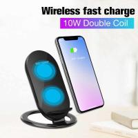 Buy cheap Vertical wireless charging 7.5W fast wireless charger for IPHONE X mobile phone Samsung 10W from wholesalers