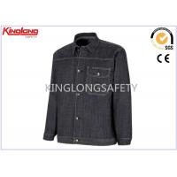 Buy cheap Man 100% Cotton Denim Work Jacket Factory Worker Uniform XS - 3XL from wholesalers