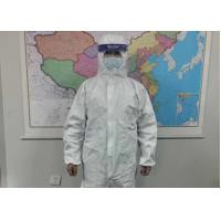 Buy cheap Chemical Resistant Disposable Protective Suit Medical Scrub Clothing Microporous Type from wholesalers