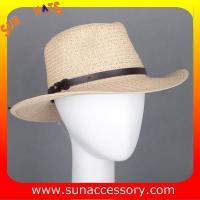 Buy cheap 2050530 Sun Accessory customized  summer  trendy fashion cowboy straw  hats  ,unisex hats and caps wholesaling from wholesalers