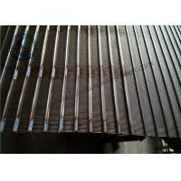 Buy cheap Good Heat Dissipation Wedge Wire Screen Panels For Water Process / Fluid Treatment from wholesalers