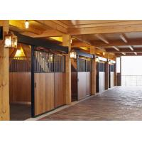 Buy cheap 2ft Length 220cm High Modular Horse Stall Kits Bamboo Steel Frame Material from wholesalers