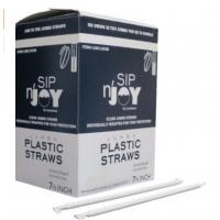 Buy cheap Ø 7mm Giant (Jumbo) Clear Straws Individually Wrapped 10-1/4 300/box from wholesalers