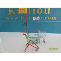 Buy cheap Q195 Low Carbon Steel Kids Shopping Carts With Colored powder Coating and with a flag and logo from wholesalers