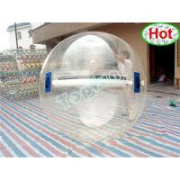 2m Diameter PVC Inflatable Water Ball / Customised Clear Water Walking Ball With Germany Zipper