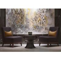 Buy cheap Leisure Purple Fabric Modern Lobby Furniture , Lobby Wooden Easy Chair from wholesalers