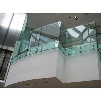 Buy cheap Toughened clear glass fixing balustrade for glass balcony from wholesalers