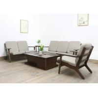 Buy cheap European Luxury Living Room Furniture Fabric Solid  Wood Sofa Set with Soft Cushion from wholesalers