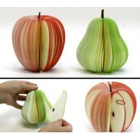 Buy cheap Cute Personalized Memo Pads , 3D Fruit Shape Custom Personalized Notepads from wholesalers
