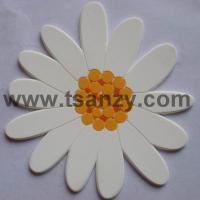 Buy cheap 2D flower shaped coaster, cup mat from wholesalers