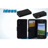 Buy cheap Wallet Black Best Samsung Galaxy Leather Cases for Ace Plus S7500 Galaxy from wholesalers