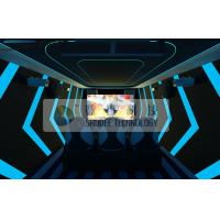 Buy cheap 6D Digital Movie Theater Equipment Electronic Pneumatic System Red Motion Chairs product