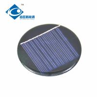 Buy cheap 5V 0.25W Round custom solar cell ZW-R58 High Efficiency Epoxy Resin Solar Panel for solar powered windmill display from wholesalers