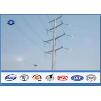 Buy cheap Electric Angle Power Steel Pole with 110KV Double Circuits Hot Dip Galvanized from wholesalers