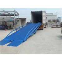 Buy cheap Manual Control Portable Truck Loading Ramps Drive Hydraulic For Warehouse from wholesalers