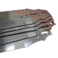 Buy cheap RC Hobby car chassis Carbon fiber sheet  cnc cutting 2.5mm thickness from wholesalers