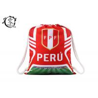 Buy cheap Custom World Cup Printed Drawstring Backpack Peru Team Sublimation  Gym Bag from wholesalers