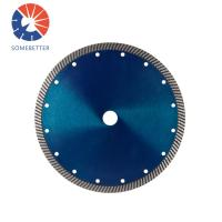 Buy cheap 4 5 6 7 8'' Hot Pressed Sintered Bevel Turbo Diamond Saw Blades for Cutting Brick Pavers Granite Sandstone Concrete from wholesalers