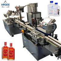 Buy cheap Automatic gin filling machine with sprite whisky champagne gin spirits glass bottle filling and capping machine bottling from wholesalers