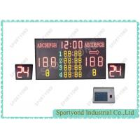 Buy cheap Electronic Wireless Scoreboard With Shot Clock , Basketball Stadium Scoreboard from Wholesalers