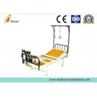 Buy cheap Double Arm Stainless Steel Crank Hospital Orthopedic Adjustable Beds with Traction Shelf (ALS-TB06) from wholesalers