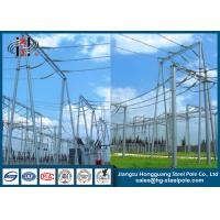 Buy cheap Electrical Substation Galvanized Steel Structure CO2 Welding from wholesalers