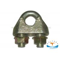 Buy cheap Carbon Steel Wire Rope Clips , Wire Cable Clamp Electro Galvanized Surface Treatment from wholesalers