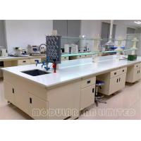 Floor Mounted Pharmaceutical Lab Furniture With Three Way Laboratory Sink Faucet