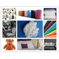 Buy cheap Furniture filling material 7D / 15D hollow conjugated siliconized polyester staple fiber from wholesalers