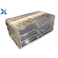 Buy cheap Clear Acrylic Makeup Organiser , Acrylic Jewelry Display Box With Velvet product