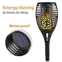 China Energy Saving Dancing Flame Solar Lawn Torch Light / Solar Lamps For Garden on sale