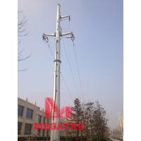 Buy cheap 110KV single circuit tension terminal  transmission line monopole from wholesalers