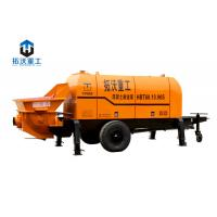 Buy cheap HBT6016 Trailer Mounted Electric Concrete Pump Compact Structure Small Wheel Design from wholesalers