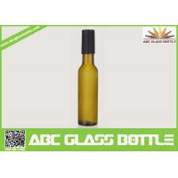 Buy cheap Factory sale 200ml empty wine glass bottle,custom frosted wine bottle with wooden cap product