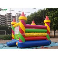 Buy cheap Colorful Birthday Party Inflatable Jumping Castles in Candy Shape , Red / Green / Yellow / Blue product