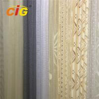 Quality 100 Polyester Lace Curtain Fabric , Lace Table Cloth Upholstery Fabric 50-200gsm Weight for sale