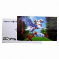 Buy cheap 3D Lenticular Card, Wonderful Designs, More Fresh and Clear Colors product