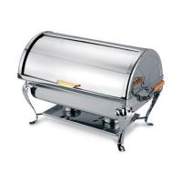 Buy cheap Restaurant 9QT Tager feet Stainless Steel hotel buffet oblong roll-top Chafing dish with chafer dish from wholesalers