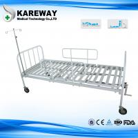 Buy cheap Square Tube Platform Manual Hospital Beds Double Crankset With IV Pole , Ease Handling from wholesalers