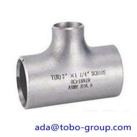 Buy cheap seamless Stainless Steel Tee , single slit pipe wall thickness 1 / 2