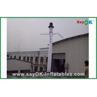 Buy cheap White Outdoor Advertising Inflatable Air Dancer With Hat H3m~H8m from wholesalers